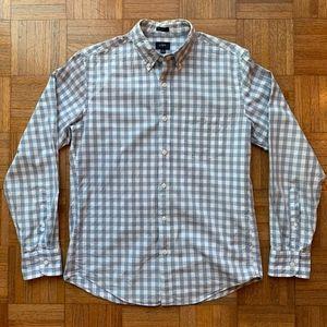J. Crew Blue White Slim Fit Button Down Shirt, M